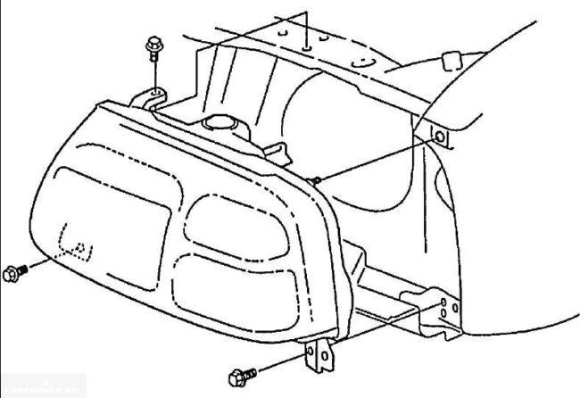 Схема крепления блок-фары на Сузуки Гранд Витара