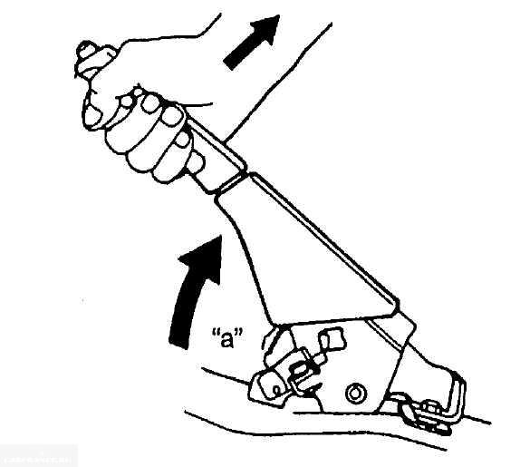 Схема проверки хода рычага стояночной тормозной системы Сузуки Гранд Витара