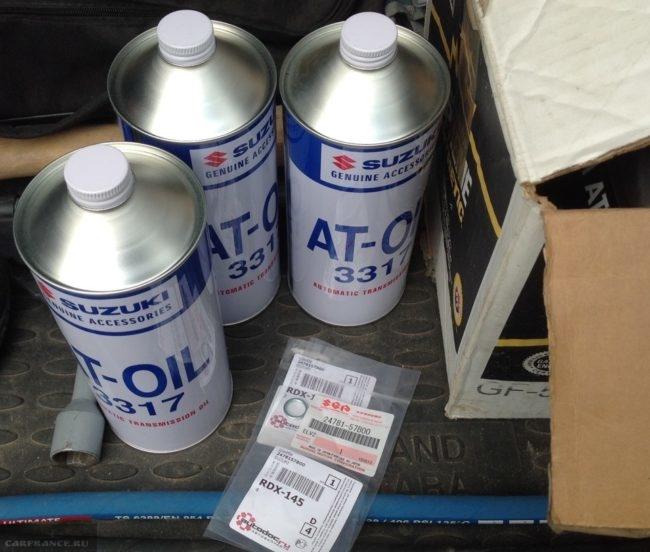 Трансмиссионное масло AT-OIL 3317 для замены в АКПП автомобиля Сузуки Гранд Витара