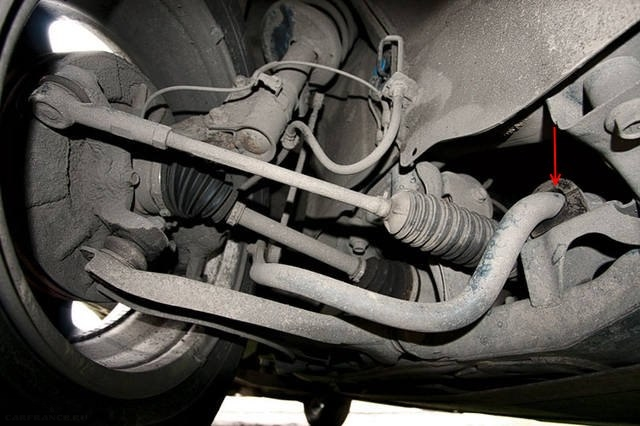 Увеличенный зазор втулки стабилизатора в передней подвеске Сузуки Гранд Витара