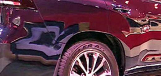 Тойота Лэнд Крузер ПРАДО вид сбоку в чёрном цвете