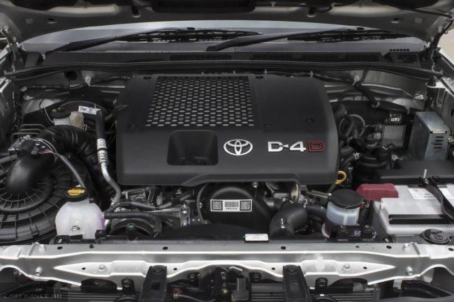 Дизельный двигатель под капотом нового Тойота Хайлюкс