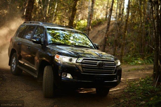 Поездка по лесной дороге на новом Тойота Ленд Крузер 200 2019 года производства