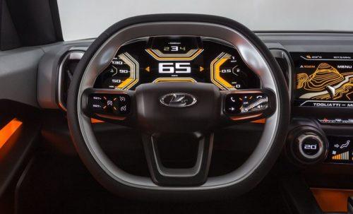 Современное рулевое колесо в новой модели Lada 4×4 Vision 2019 года