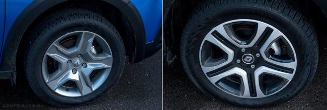 Декоративный колпак на колесе нового автомобиля Рено Сандеро Степвей 2019 года