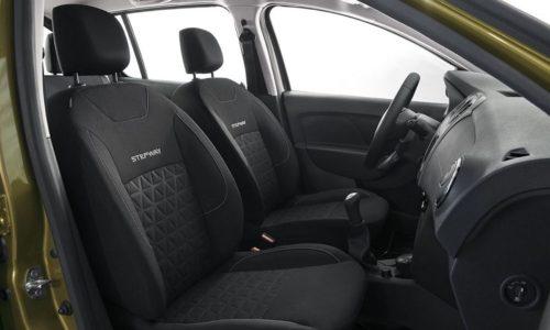 Тканевая обивка передних сидений в Рено Сандеро Степвей 2019 года производства