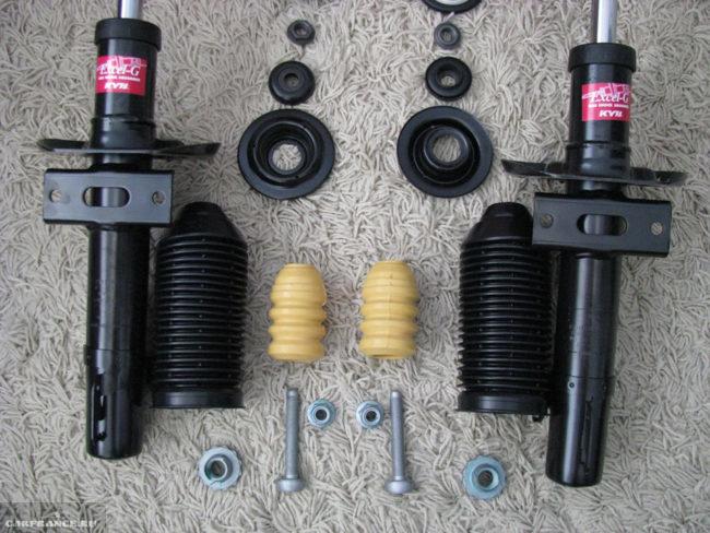Полный комплект для самостоятельной замены передних стоек в Фольксваген Поло седан