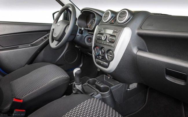 Передняя панель и рулевое колесо в Лада Гранта спорт 2019 года выпуска