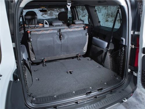 Багажник в Лада Ларгус кросс 2019 года с откинутыми сидениями