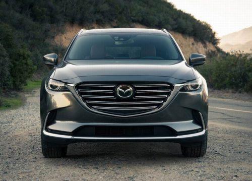 Передняя оптика светодиодного типа на кроссовере Mazda CX-9 2019 года производства