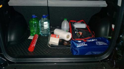 Небольшой скраб в багажнике Сузуки Гранд Витара