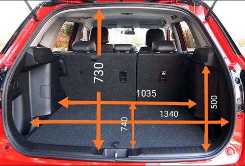 Размеры багажного отделения Сузуки Гранд Витара