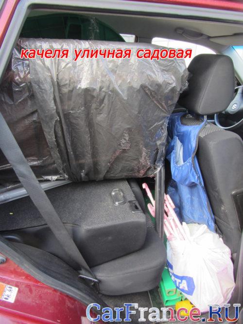 Загрузка багажника при перевозе вещей на СУЗУКИ ГРАНД ВИТАРА вид сбоку
