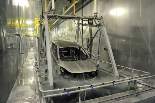 Процесс оцинковки кузова на заводе Фольксваген Поло