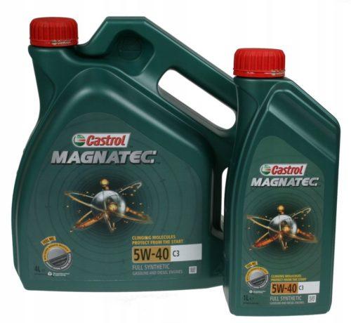 Две канистры с маслом Castrol Magnatec 5W-40 для замены в двигателе Фольксваген Поло седан
