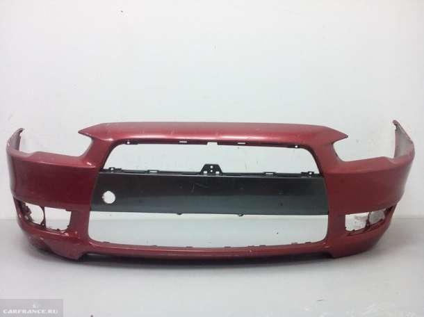 Новый передний бампер 6400B913 для Митсубиси Лансер 10 малинового цвета