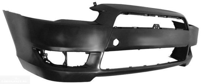 Пластиковый передний бампер артикул STMBW50000 для седана Митсубиси Лансер 10