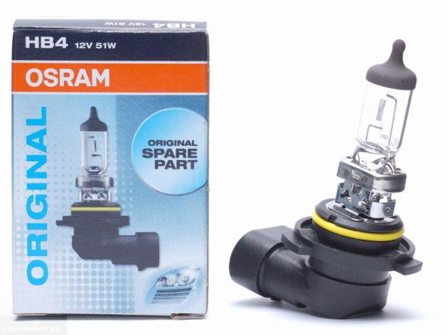 Лампа ближнего света HB4 12v 51w от компании OSRAM для автомобиля Митсубиси Лансер 10