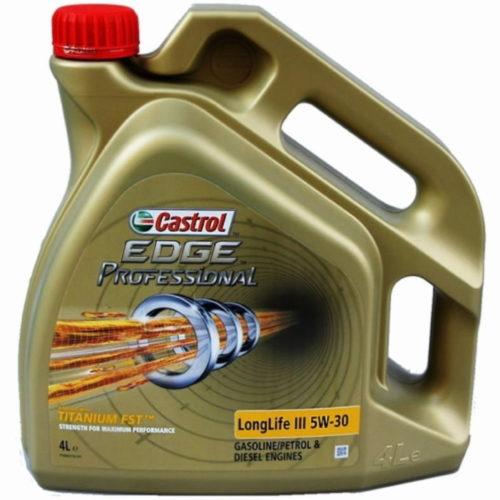 Четырехлитровая канистра с маслом Castrol Long life 5W-30 синтетического типа