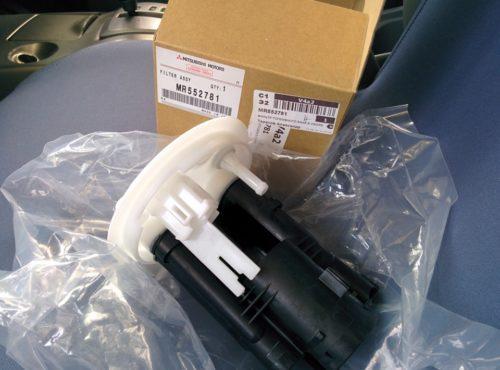 Фильтр тонкой очистки топлива артикул MR552781 для Митсубиси Лансер 9