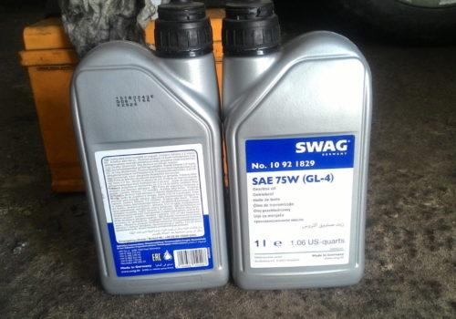 Фото оригинального масла SWAG 99908971 в пластиковых канистрах