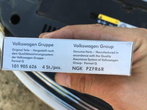 Торец фирменной упаковки свечей BOSCH FR5KPP332S для Фольксваген Тигуан