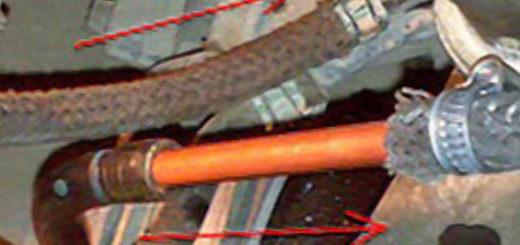 Трубки системы охлаждения от АКПП на Митсубиси Лансер