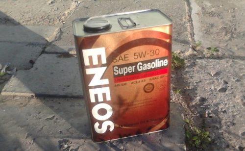 Масло Eneos Super Gasoline SM 5W30 для двигателя Митсубиси Лансер 10