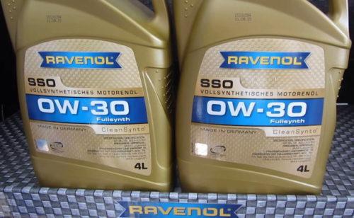 Две канистры с маслом Ravenol 0w30 для мотора Митсубиси Лансер 10 серии