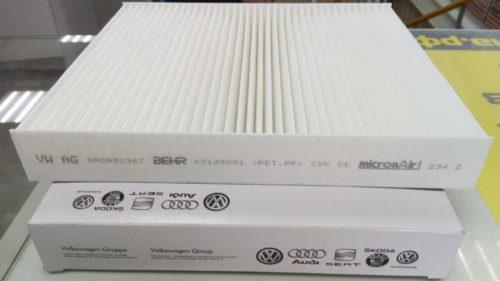 Салонный фильтр 6R0820367 бумажного типа для Фольксваген Поло седан