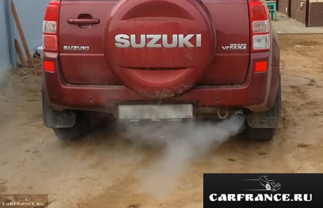 Белый сизый дым при залегании маслосъёмных колпачков на Сузуки Гранд Витара 2007 года выпуска 2,0 АКПП