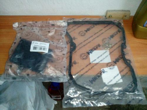 Масляный фильтр и резиновая прокладка поддона коробки автомата для Фольксваген Поло седан