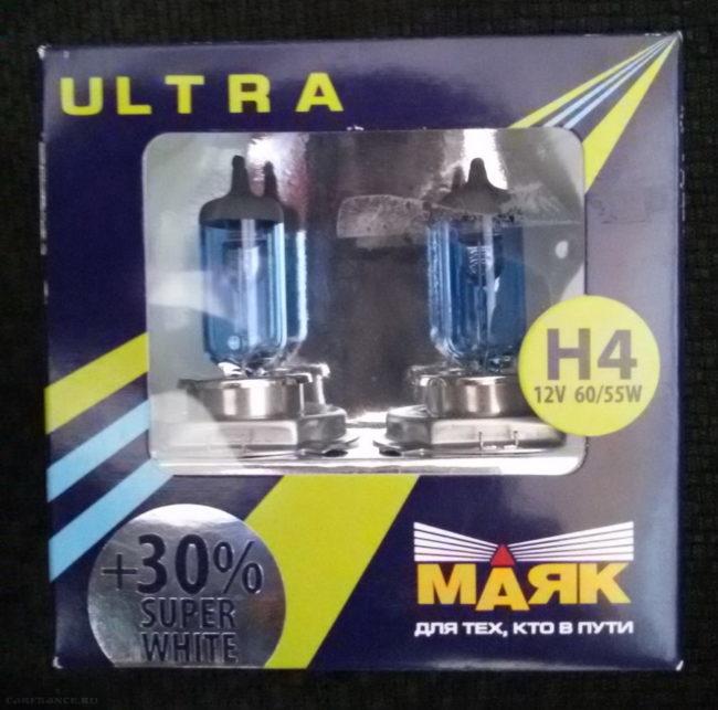 Упаковка с лампами ближнего света Маяк H4 для седана Фольксваген Поло