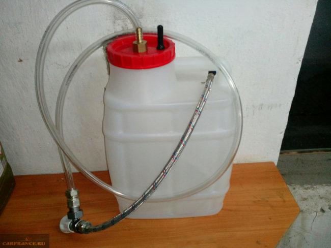 Приспособление для заливки масла в АКПП Фольксваген Поло без заливного отверстия на коробке