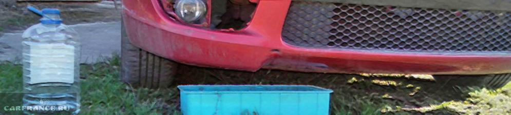 Слив зелёного антифриза с двигателя Митсубиси Лансер 10 1.5