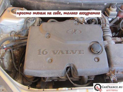 Двигатель 16 клапаннов с крышкой Лада Приора