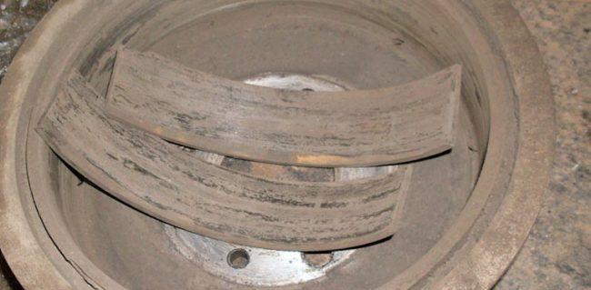 Неравномерный износ задних тормозных колодок на Лада Приора