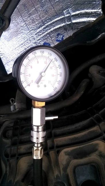 Параметры компрессии в одном из цилиндров двигателя Лада Приора 16 клапанов